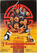 Filmplakat 7 Kampfmaschinen des Todes/Seven Steps of Kung 1978 Peltzer-Artwork