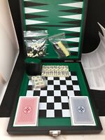 Multi Game Set Chess/Checkers/Backgammon/Poker/Dominoes