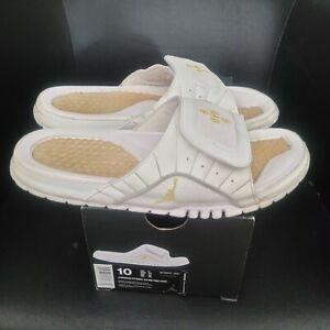 Jordan Hydro Slides Retro 12 Ovo Mens Size 10 White Slippers