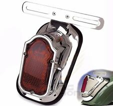 Motorcycle Chrome Red Tombstone Brake Tail Light Signal For Harley Bike