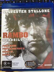 Rambo Quadrilogy 4-disc Blu Ray Brand New Unused