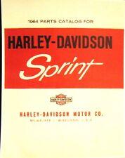 1964 Harley-Davidson Parts Caralogue Sprint Models  C And H   N0.# 99455-64  FSH