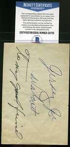 Jersey Joe Walcott Bas Beckett Autograph  Album Page Hand Signed