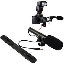 3.5mm Plug DC/DV Stereo Microphone MIC+Bracket fr Digital Camera Video Camcorder