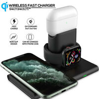 3 In 1 15W Qi Wireless Charger Magnetic Dock Charging Pad For iPhone 12 Pro Max