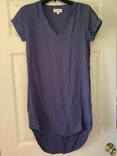 Cloth & Stone Womens Extra Small V Neck Short Sleeve Navy Tunic