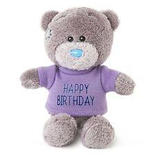 "Me to You 4"" Happy Birthday Soft Plush & Purple T-Shirt Gift - Tatty Teddy Bear"