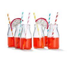 250ml Mini Milk Bottles Glass Water Kids Mason Jar Home Decor Wedding Favour NEW
