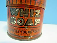 VINTAGE 1930's WHIZ SOAP 14 oz ROUND TIN HAND CLEANER & GENERAL KITCHEN USE