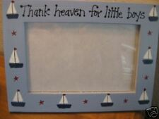 THANK HEAVEN FOR LITTLE BOYS- baby photo picture frame