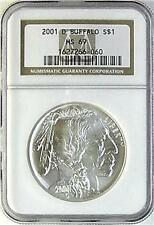 2001D AMERICAN BUFFALO $1 GRADED BY NGC   MS 69 GORGEOU