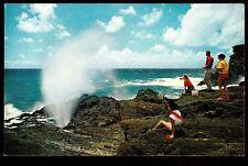 c1953 Nani Li'i photo by Wenkam the Blow Hole Geyser Oahu Hawaii postcard