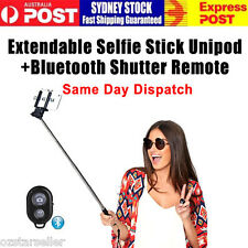 New Extendable Selfie Stick Unipod + Bluetooth Shutter Remote for Any Phones