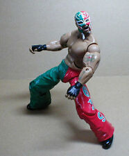 "WWE WWF TNA Wrestling Classics REY MYSTERIO 6"" superposeable toy figure RARE"