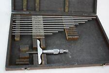 Fowler 1 12 Depth Micrometer 001 Wooden Box 52 225 035 0 12
