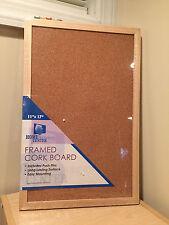 "Brand new framed cork board 11"" x 17"" wood"