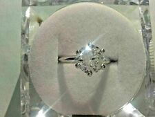 1.50 Ct 6 Prong Round VVS1 Moissanite Engagement Ring 925 Sterling Silver