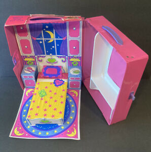 1995 Slumber Party Barbie Fold Out Play Case Mattel Tara Toy 1990s #12020
