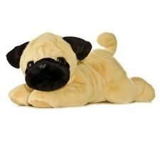 Aurora World 12'' Plush PUG-GER the PUG DOG FLOPSIE ~NEW~