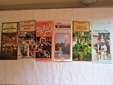 LOT OF 6 VINTAGE ENGLAND MAPS 1980s LONDON INCLUDING BRITAIN PUB CALL & WINDSOR