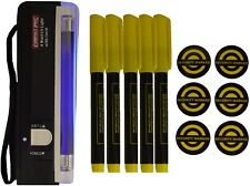 Safehaus Property Marking Kit - 5 x Ultra Violet Pens, 1 x UV Torch, 6 Stickers