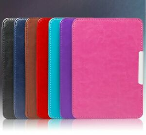Retro Protective Shell Leather Case For Amazon Kindle Paperwhite123 Cover Skin