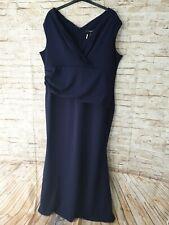 Quiz Navy Wrap Maxi Dress size 26