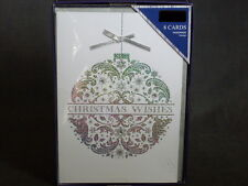 Boutique Card Collection Silver Holographic Foil 8 Pc Holiday Cards & Envelopes