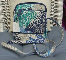 "VERA BRADLEY designer quilted ""mini hipster""/cross body/shoulder bag, NWT!!"