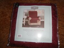NEW Home Fashion Designs Reversible Recliner Cover Protector 79 x 65 Burgundy