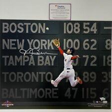 Autographed/Signed ANDREW BENINTENDI Boston Red Sox 16x20 Photo Fanatics COA