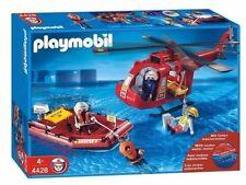 Playmobil - Pompiers - Les Sauveteurs : Hélicoptère + Bateau