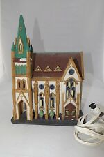 "Dept 56 Christmas In The City "" All Saints Corner Church"" 55425 Mib Lighted"