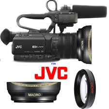 ULTRA WIDE ANGLE LENS + MACRO LENS FOR JVC GY-HM180 Ultra HD 4K CAMCORDER