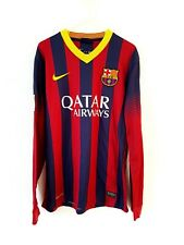 Barcelona Home Shirt 2013/14. Small Adults. Nike Red Long Sleeves Football Top S