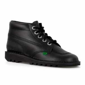 Kickers Kick Hi W Core Black Leather KF0000120 Ankle Lace Up Chukka Boot Shoes
