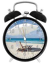 """Beach Chair Alarm Desk Clock 3.75"""" Room Decor E61 Nice Gifts A+ Quality"""