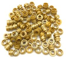 LEGO LOT OF PEARL GOLD ROUND 1 X 1 PLATES WITH HOLE IN CENTER PARTS