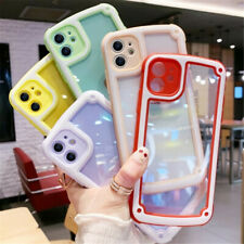 Shockproof Clear TPU Bumper Hard Back Case For iPhone 12/11 Pro Max Hybrid Cover