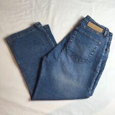 Christopher Blue Womens Capris Cropped Jeans Medium Wash Sz 14