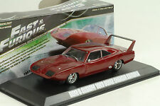 Dodge Charger Daytona 1969 Dom Fast&furious Greenlight 1/43