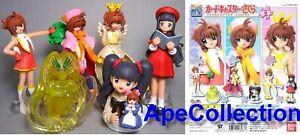 Raro Set 6 Figuras Sakura Card Captor Part 2 Original BANDAI Japan gashapon New