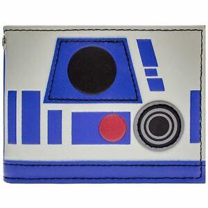 NEW OFFICIAL STAR WARS R2-D2 DROID HELMET BLUE ID & CARD BI-FOLD WALLET