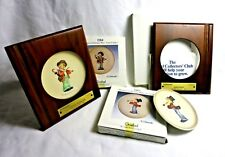 Hummel Mini Plates Little Music Makers 1984 Fiddler 1985 Serenade Frames Boxes