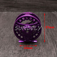 PURPLE ALUMINUM FLY FISHING REEL 5/6 85MM LEFT OR RIGHT HAND RETREIVE