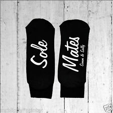 Mens Personalised Sole Mates Socks - Text Printed on the Sole One size 6-12