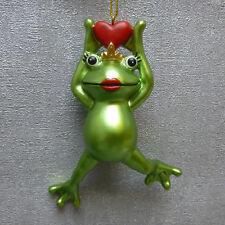 Casablanca Frosch Hänger Froschkönigin Froggy grün Fensterdeko Krone Herz