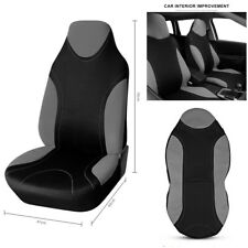 1 Pcs Grey Bucket Durable Polyester Fabric Front Seat Cover High Back Single Set
