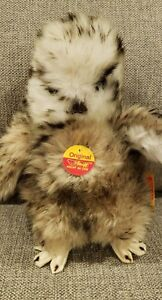 Vintage New With Tags Steiff Owlet Baby Owl Ear Tag 2591/22 NWT