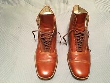 Vtg. original 1940s-50s Florsheim leather high top cap toe Dress shoes Chicago